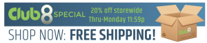 20% off and free shipping