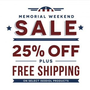 Isodiol Memorial Day Sale 25% off Limited Time