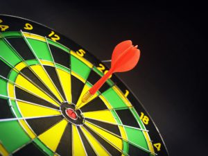Dart in the bullseye