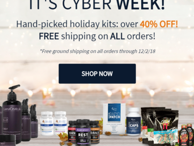 It's Cyber Week 40% off and FREE Shipping