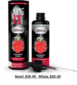 CBDXTREME VapeIT CBD OIL 50ml bottle