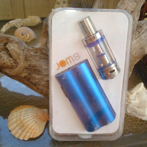 jom tech vape rig in blue