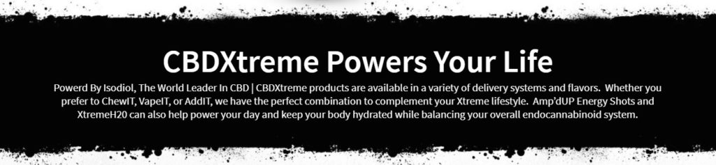 CBDXtreme Powers Your life Banner