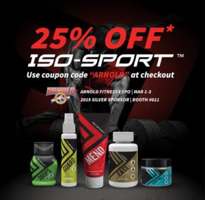 25% OFF ISO-SPORT FOR THE ARNOLD FESTIVAL
