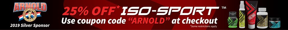 25% OFF ISO-SPORT USE COUPON CODE ARNOLD AT CHECKOUT