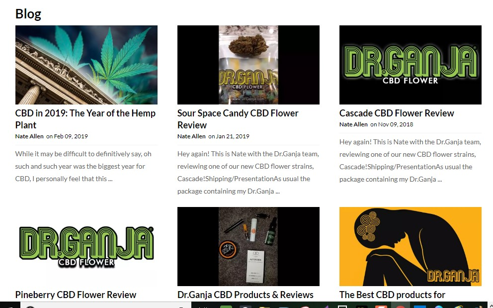 Screenshot of DrGanja Blog